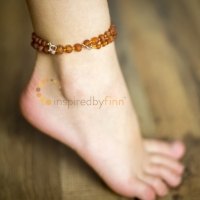 BALTIC AMBER WELLNESS & TEETHING ADJUSTABLE ANKLET
