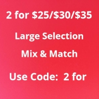 2 for $25-35,Mix&Match,Must buy 2 - Use code: 2for