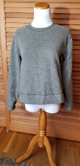 Everlane Renew Plush Fleece Sweatershirt - Crocodile, XS