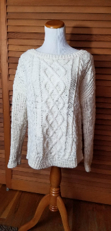 Banana Republic chunky cabled sweater, XS