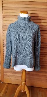 Vetta Capsule Cropped Mockneck Sweater - Grey, XS