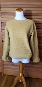 Everlane Renew Plush Fleece Sweatershirt - Honeycomb, XS