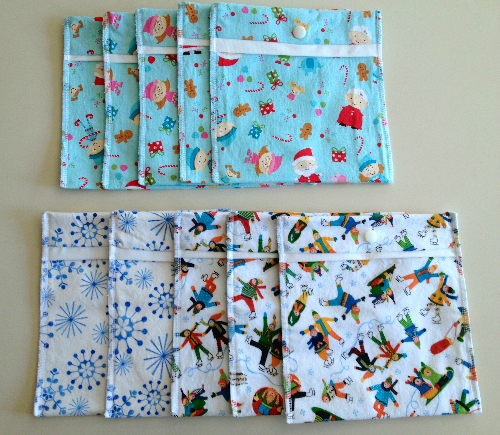 Holiday Pouches or Snack Packs with Procare Lining