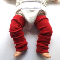 Red New Wool Leg Warmers
