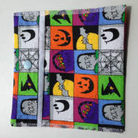 Halloween squares Pouch or Snack Pack with Nylon Lining