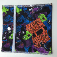 Green Witch Pouch or Snack Pack with Nylon Lining