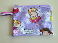 Lined Fairy Zipper Pouch or Snack Pack