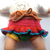 Rainbow Knit Wool Skirtie
