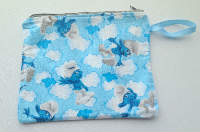 Lined Smurf Zipper Pouch or Snack Pack