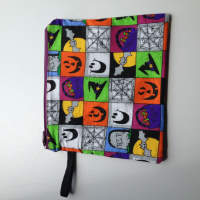 Lined Halloween square Zipper Pouch or Snack Pack