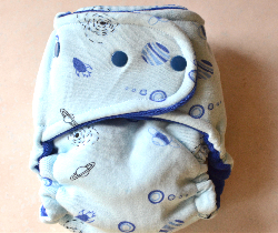 One Size Planets Velour Fitted Cloth Diaper
