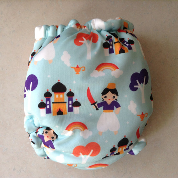 One Size Velour Fitted Cloth Diaper