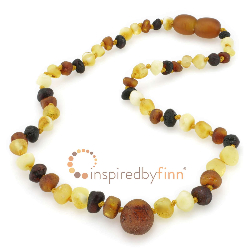 <u>Baltic Amber Necklace - Kids Unpolished Pendant Diversity - Teething, Health & Wellness</