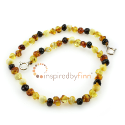 <u>Baltic Amber Anklet - Adjustable<br></u>Polished 4 Different Colors