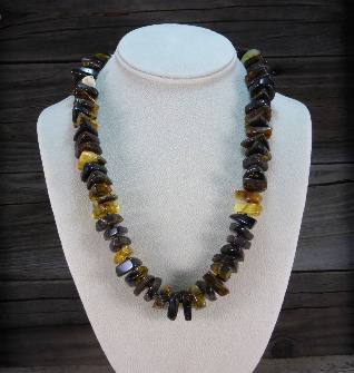 <u>Baltic Amber Necklace - Polished Unique Rustic Amber</u><br>$74.97 w/ discount code: 25
