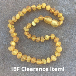 <u>Sale/Clearance! Baltic Amber Necklace - Kids Unpolished LCS/White - Teething, Health & Wellness</