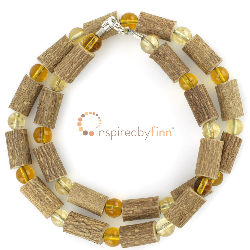 <u>Economy Citrine Gems, Glass Beads & Hazel - THE Best for Acid Reflux, Ulcers, Hearburn </u>