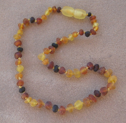 "<u>SALE! Kids Sizes 11.5-12.5""<br>Rustic Unpolished Color Baltic Amber Necklace</u>"