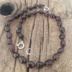 <u>Baltic Amber Anklet - Adjustable<br></u>Polished Dark Cherry