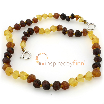 <u>Baltic Amber Anklet - Adjustable<br></u>Unpolished Multi