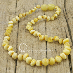 <u>Baltic Amber Necklace - Kids Polished Variegated - Teething, Health & Wellness</u>