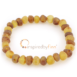 <u>Baltic Amber Elastic Bracelet - Unpolished Mixture</u>