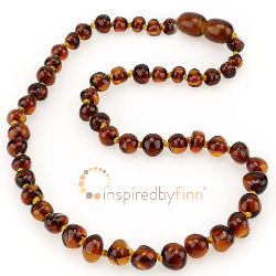 <u>Baltic Amber Necklace - Kids Polished Cognac - Teething, Health & Wellness</u>