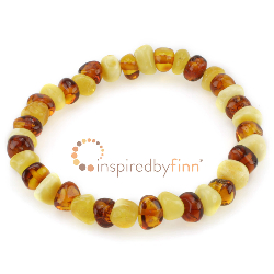 <u>***NEW***Elastic Bracelet<br>Polished Butter & Honey<br>Larger Beads</u>