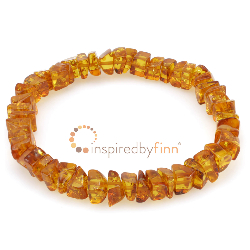 <u>Baltic Amber Elastic Bracelet - Polished Iced Tea</u>
