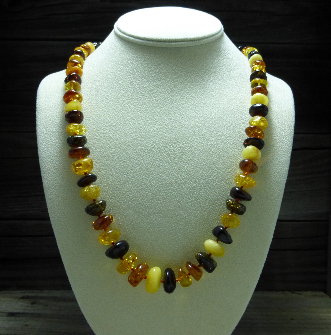 <u>Baltic Amber Necklace - Polished Lovely Multicolor</u><br>$59.97 w/ discount code: 25