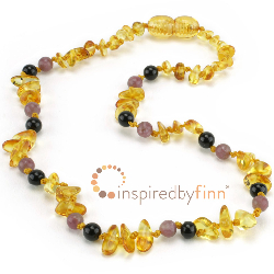 <u>NEW Necklace! Chips - Lemon Amber + Curbs Hyperactivity & Attn Deficit, Improves Focus</u>