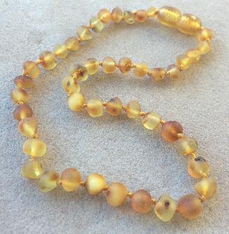 "<u>SALE! Kids Sizes 10.5-12.5""<br>Unpolished Cinnamon & Cream Baltic Amber Necklace</u>"
