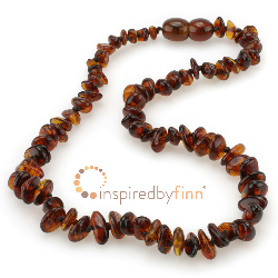 <u>Baltic Amber Necklace - Kids Polished Cherry Chips - Teething, Health & Wellness</u>