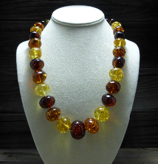 <u>Baltic Amber Necklace - Polished Multicolor XXL Beads</u><br>$224.96 w/ discount code: 25