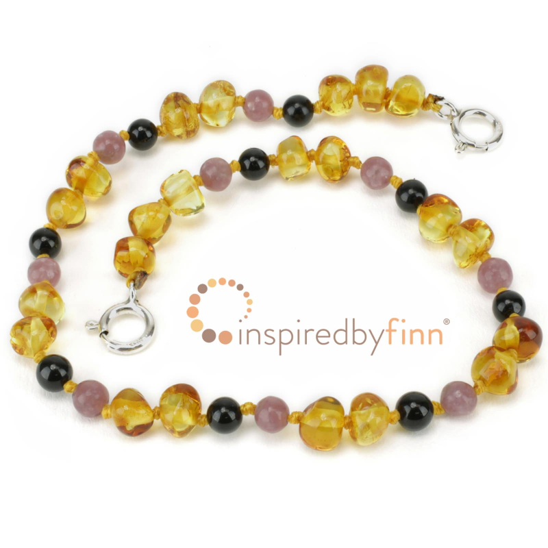 <u>Adjustable Polished Golden Sw + CURBS HYPERACTIVITY</u><br>Baltic Amber Wellness, Teething Anklet