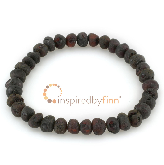 <u>Baltic Amber Elastic Bracelet - Unpolished Molasses</u>