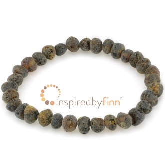 <u>Baltic Amber Elastic Bracelet - Unpolished Sea Amber</u>