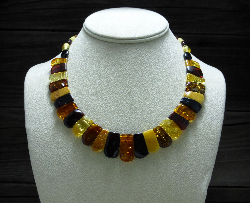 <u>Baltic Amber Necklace - Polished Multicolor Elegant</u><br>$74.97 w/ discount code: 25