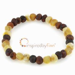 <u>Baltic Amber Elastic Bracelet - Unpolished Diversity</u>