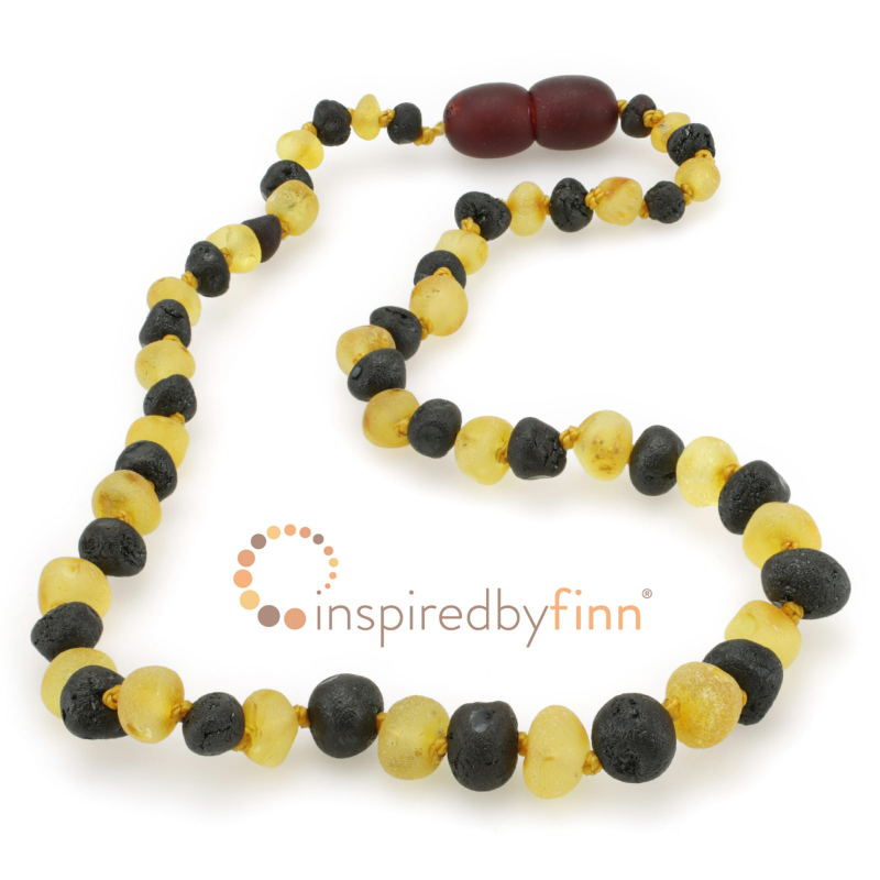 <u>Baltic Amber Necklace - Kids Unpolished 2 Different - Health & Wellness Jewelry</u>