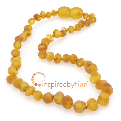 <u>Baltic Amber Clasped Anklet<BR>Unpolished Harvest</u>