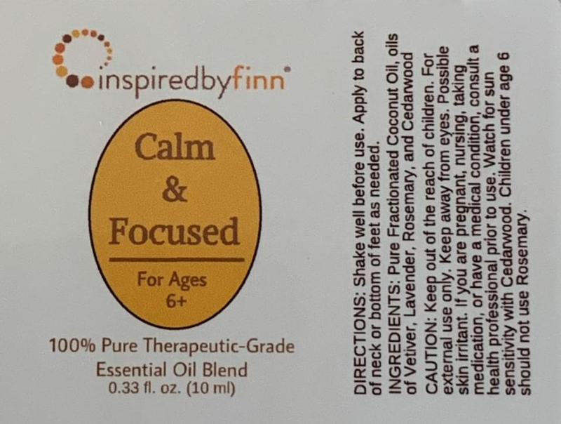 <u>Calm & Focused Essential Oil Roll-On</u><br>For Ages 6 to Adult