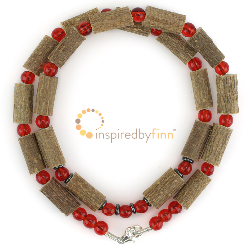 "<u>Discontinued - Kids 10.5"" Hazel Necklace/Adult Anklet Cherry Hazel</u>"