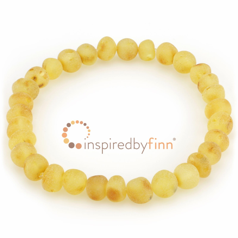 <u>Baltic Amber Elastic Bracelet - Unpolished Lemonade (Cinnamon Sprinkle)</u>