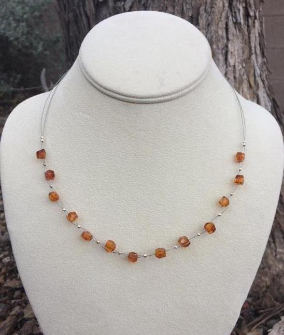 <u>CLEARANCE! Baltic Amber Necklace - Wire Honey</u>