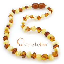 <u>Baltic Amber Necklace - Kids Polished Butter & Honey - Teething, Health & Wellness</u>