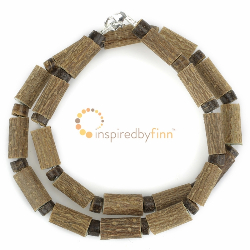 "<u>Overstock - Kids 10.5-12.75"" Hazel Necklace Coconut & Hazel </u>"