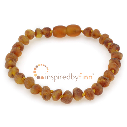 <u>Baltic Amber Clasped Bracelet - Unpolished Cider</u>