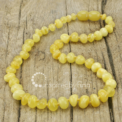 <u>Baltic Amber Necklace - Polished Butter - Teething, Health & Wellness</u>