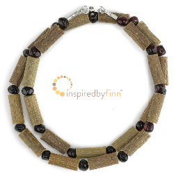 "<u>Overstock -Kids & Adult sizes 10.5-18"" - Polished Baltic Amber & Hazel Necklace - Dark Cherry</u>"